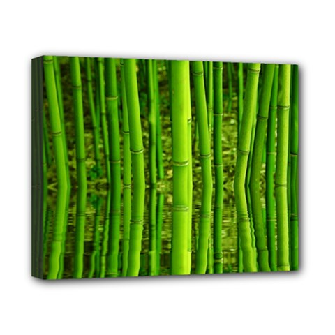 Bamboo Canvas 10  X 8  (framed) by Siebenhuehner