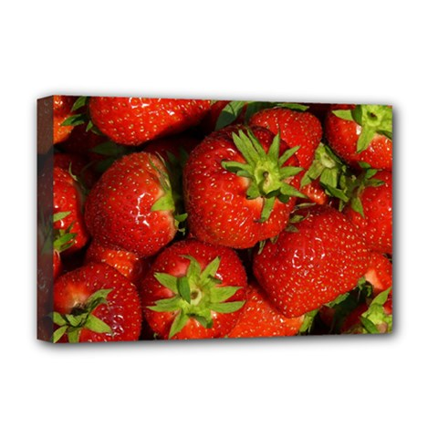 Strawberry  Deluxe Canvas 18  X 12  (framed)