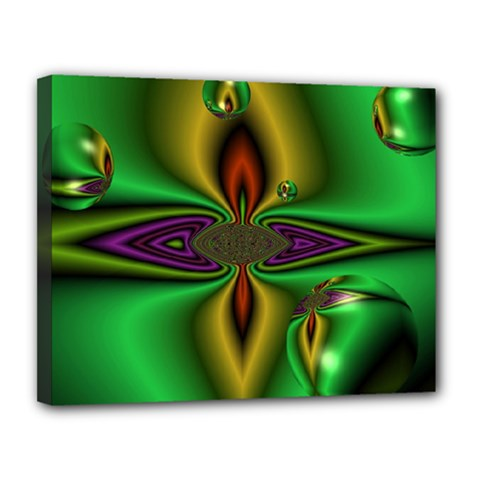 Magic Balls Canvas 14  X 11  (framed) by Siebenhuehner
