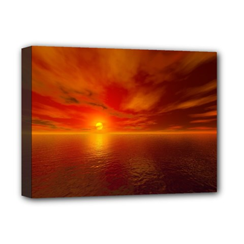 Sunset Deluxe Canvas 16  X 12  (framed)  by Siebenhuehner