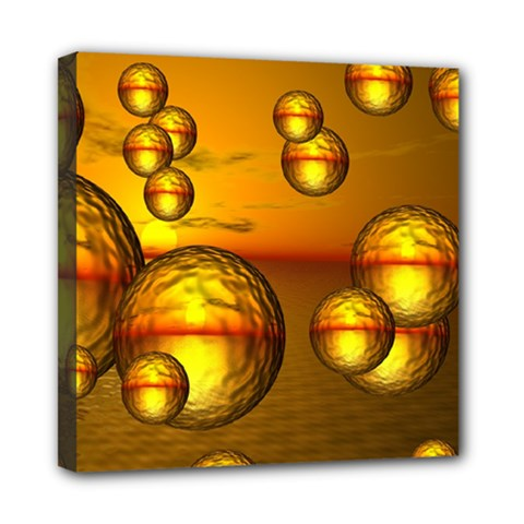 Sunset Bubbles Mini Canvas 8  X 8  (framed) by Siebenhuehner