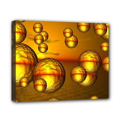 Sunset Bubbles Canvas 10  X 8  (framed) by Siebenhuehner