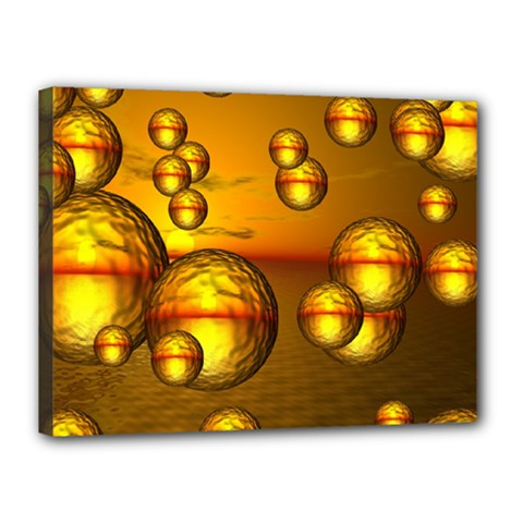 Sunset Bubbles Canvas 16  X 12  (framed) by Siebenhuehner