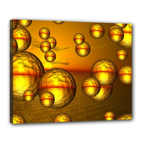 Sunset Bubbles Canvas 20  X 16  (framed) by Siebenhuehner
