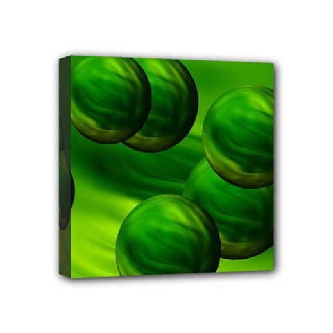 Magic Balls Mini Canvas 4  X 4  (framed) by Siebenhuehner