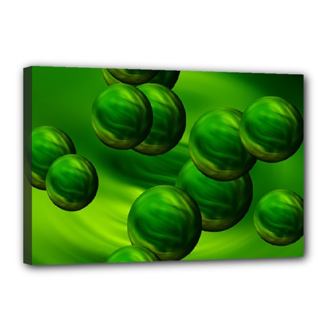 Magic Balls Canvas 18  X 12  (framed) by Siebenhuehner