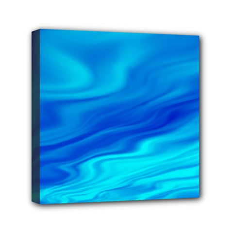 Blue Mini Canvas 6  X 6  (framed) by Siebenhuehner
