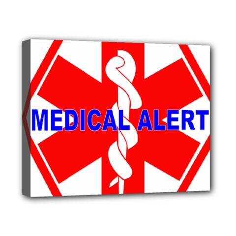 Medical Alert Health Identification Sign Canvas 10  X 8  (framed) by youshidesign