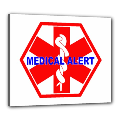 Medical Alert Health Identification Sign Canvas 24  X 20  (framed) by youshidesign