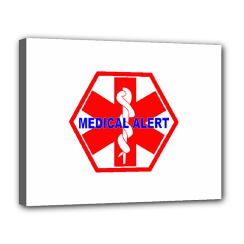 Medical Alert Health Identification Sign Canvas 14  X 11  (framed) by youshidesign