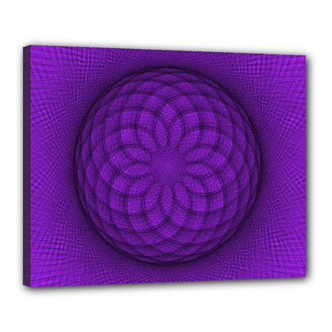 Spirograph Canvas 20  X 16  (framed) by Siebenhuehner