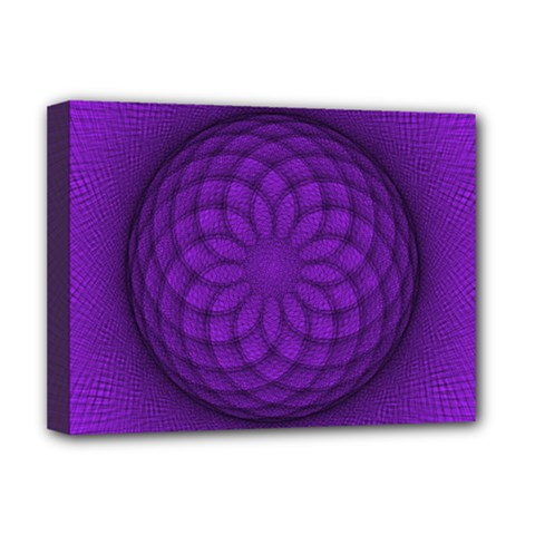 Spirograph Deluxe Canvas 16  X 12  (framed)  by Siebenhuehner