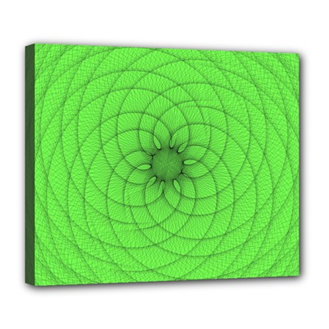 Spirograph Deluxe Canvas 24  X 20  (framed) by Siebenhuehner