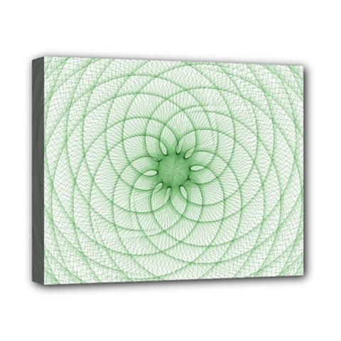 Spirograph Canvas 10  X 8  (framed) by Siebenhuehner