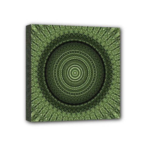 Mandala Mini Canvas 4  X 4  (framed) by Siebenhuehner