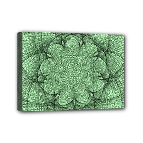 Spirograph Mini Canvas 7  X 5  (framed) by Siebenhuehner