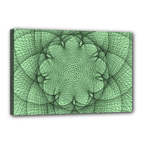Spirograph Canvas 18  X 12  (framed) by Siebenhuehner
