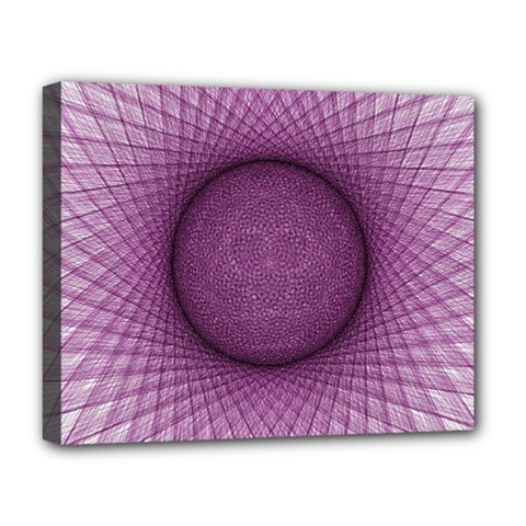Spirograph Deluxe Canvas 20  X 16  (framed) by Siebenhuehner