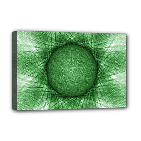 Spirograph Deluxe Canvas 18  X 12  (framed) by Siebenhuehner