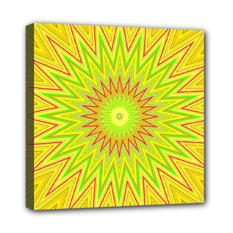 Mandala Mini Canvas 8  X 8  (framed) by Siebenhuehner