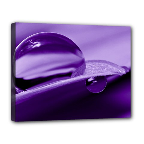 Drops Canvas 14  X 11  (framed) by Siebenhuehner