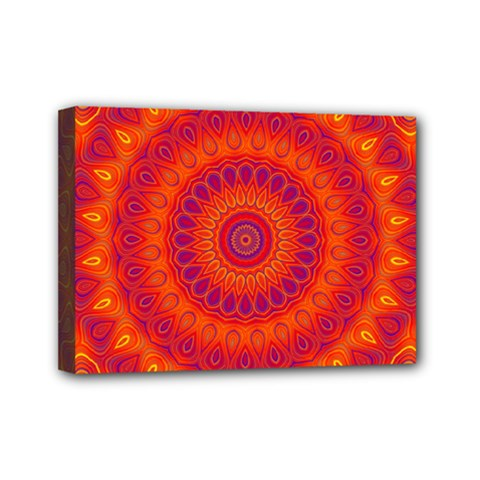 Mandala Mini Canvas 7  X 5  (framed) by Siebenhuehner