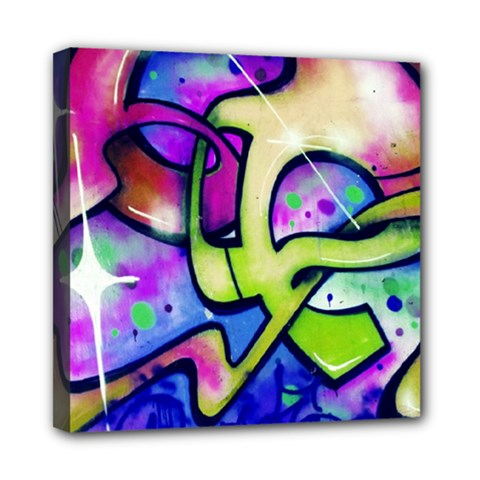 Graffity Mini Canvas 8  X 8  (framed) by Siebenhuehner