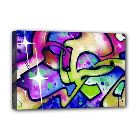 Graffity Deluxe Canvas 18  X 12  (framed) by Siebenhuehner