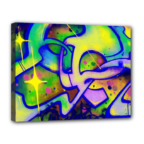 Graffity Canvas 14  X 11  (framed) by Siebenhuehner
