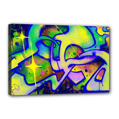 Graffity Canvas 18  X 12  (framed) by Siebenhuehner
