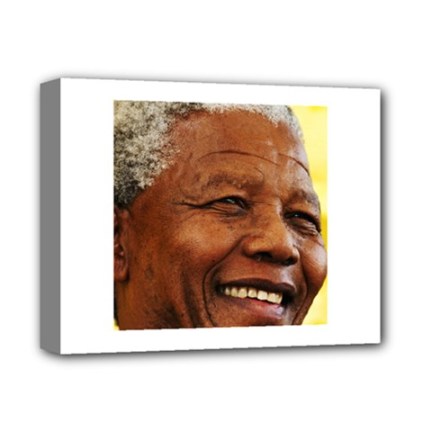 Mandela Deluxe Canvas 14  X 11  (framed)