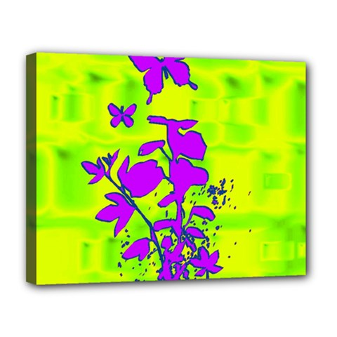 Butterfly Green Canvas 14  X 11  (framed)