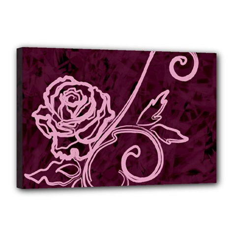 Rose Canvas 18  X 12  (framed) by uniquedesignsbycassie