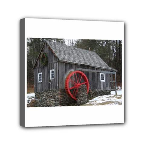 Vermont Christmas Barn Mini Canvas 6  X 6  (framed)