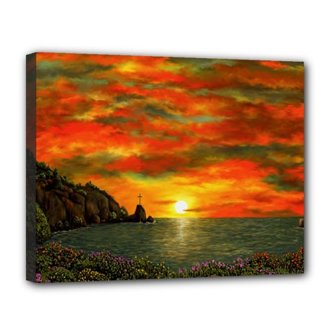 Alyssa s Sunset By Ave Hurley Artrevu   Canvas 14  X 11  (stretched) by ArtRave2