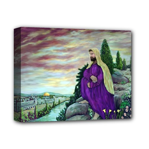 Jesus Overlooking Jerusalem   Ave Hurley   Artrave   Deluxe Canvas 14  X 11  (framed) by ArtRave2