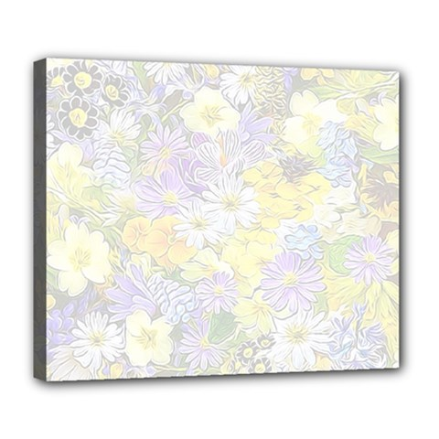 Spring Flowers Soft Deluxe Canvas 24  X 20  (framed) by ImpressiveMoments
