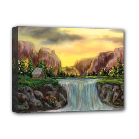 Brentons Waterfall   Ave Hurley   Artrave   Deluxe Canvas 16  X 12  (framed)