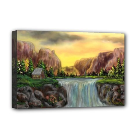 Brentons Waterfall   Ave Hurley   Artrave   Deluxe Canvas 18  X 12  (framed) by ArtRave2