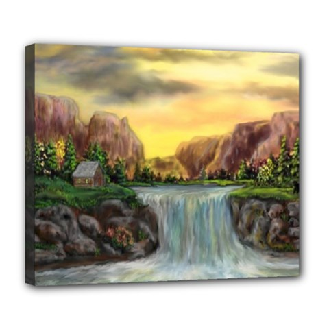 Brentons Waterfall   Ave Hurley   Artrave   Deluxe Canvas 24  X 20  (framed) by ArtRave2