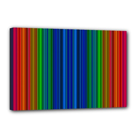 Strips Canvas 18  X 12  (framed) by Siebenhuehner