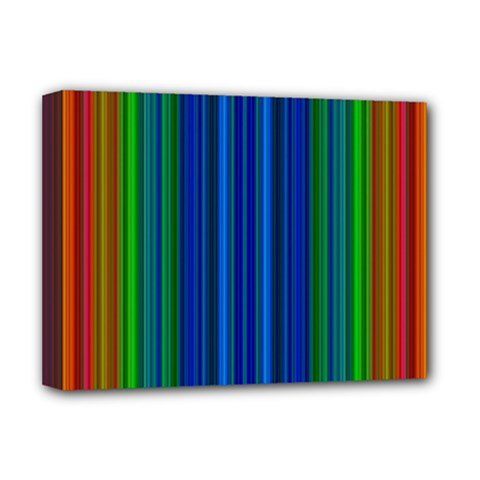 Strips Deluxe Canvas 16  X 12  (framed)  by Siebenhuehner