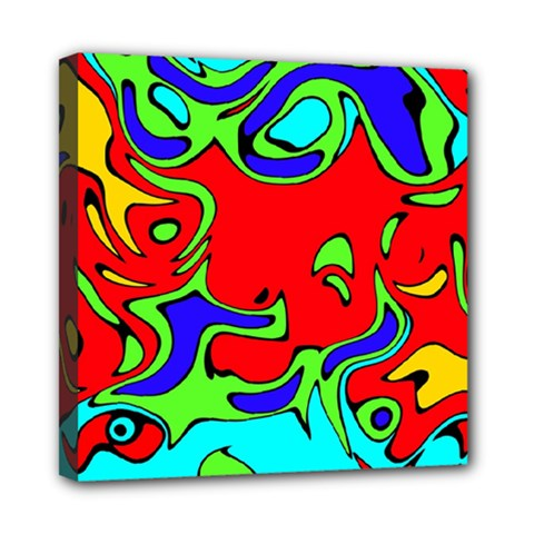 Abstract Mini Canvas 8  X 8  (framed) by Siebenhuehner