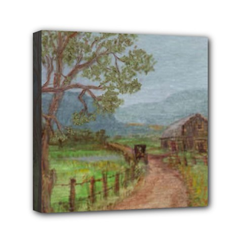 amish Buggy Going Home  By Ave Hurley Of Artrevu   Mini Canvas 6  X 6  (stretched) by ArtRave2
