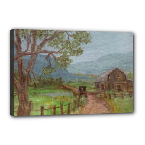 amish Buggy Going Home  By Ave Hurley Of Artrevu   Canvas 18  X 12  (stretched) by ArtRave2