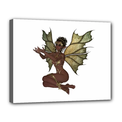 Faerie Nymph Fairy With Outreaching Hands Canvas 14  X 11  (framed) by goldenjackal