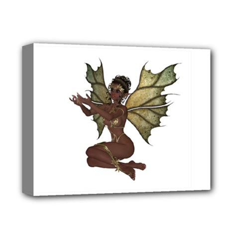 Faerie Nymph Fairy With Outreaching Hands Deluxe Canvas 14  X 11  (framed) by goldenjackal