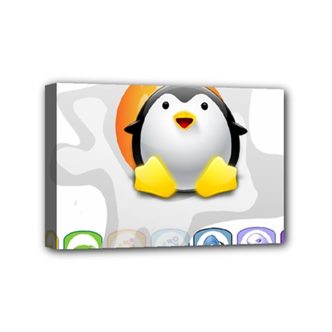 Linux Versions Mini Canvas 6  X 4  (framed) by youshidesign