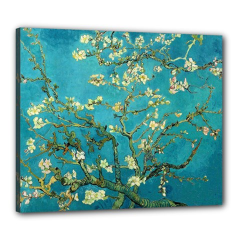 Vincent Van Gogh Blossoming Almond Tree Canvas 24  X 20  (framed)