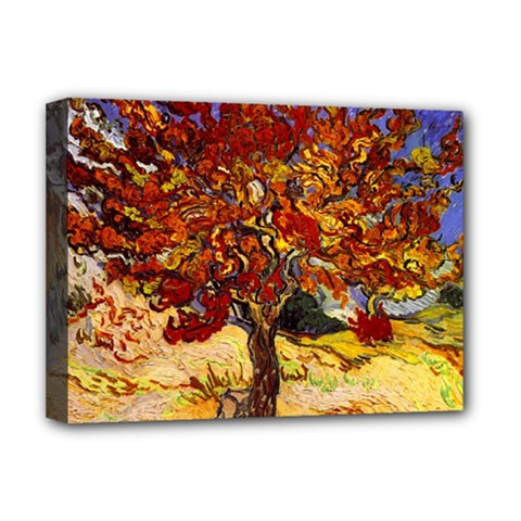 Vincent Van Gogh Mulberry Tree Deluxe Canvas 16  X 12  (framed)  by MasterpiecesOfArt